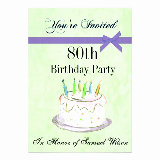 "80th Birthday Party Invitations Awesome 80th Birthday Party Personalized Invitation 5"" X 7"