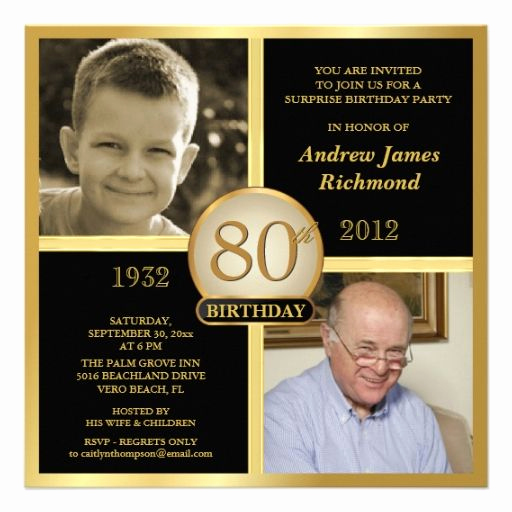 80th Birthday Party Invitations Fresh 80th Birthday Invitations then & now 2 S