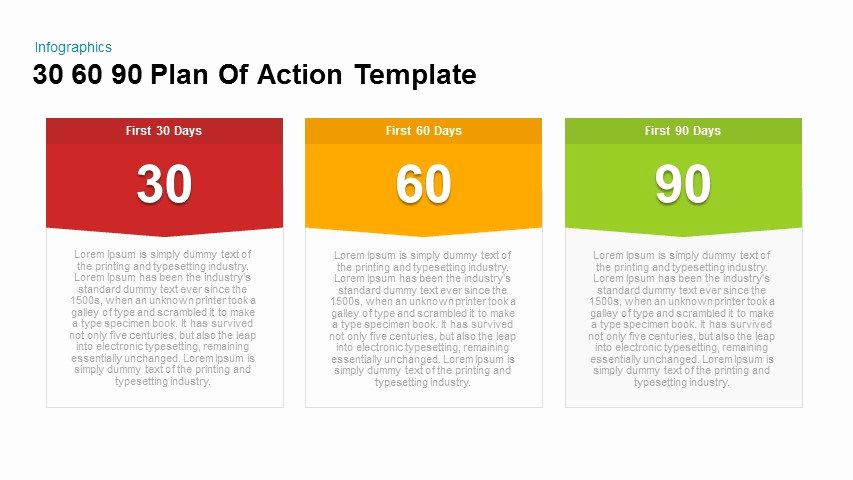90 Day Plan Template Fresh 30 60 90 Plan Action Powerpoint and Keynote Template