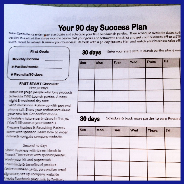 90 Day Plan Template Inspirational Have A 90 Day Success System for Your Direct Sales Team