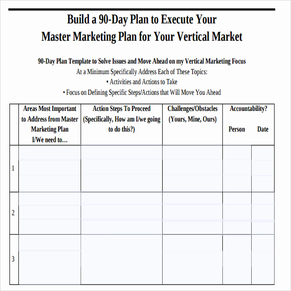 90 Day Plan Template Lovely Sample 90 Day Plan 14 Documents In Pdf Word