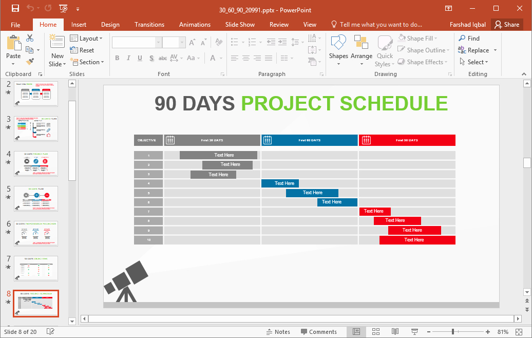90 Day Plan Template New 5 Best 90 Day Plan Templates for Powerpoint