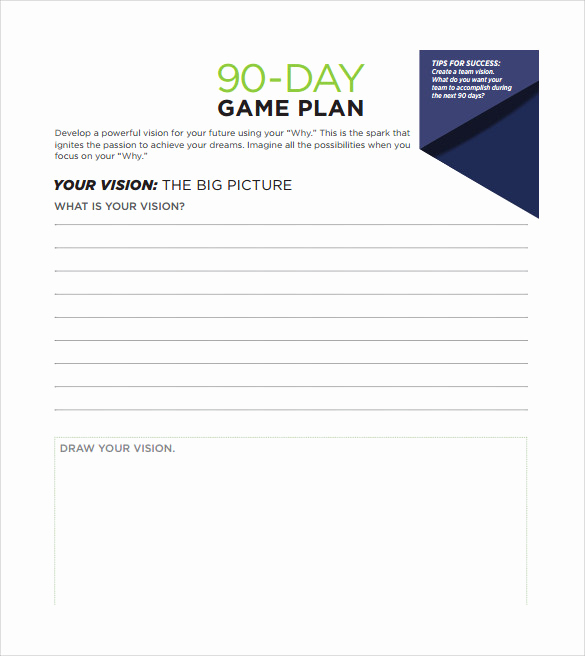 90 Day Plan Template Unique 20 30 60 90 Day Plan Samples Pdf Word