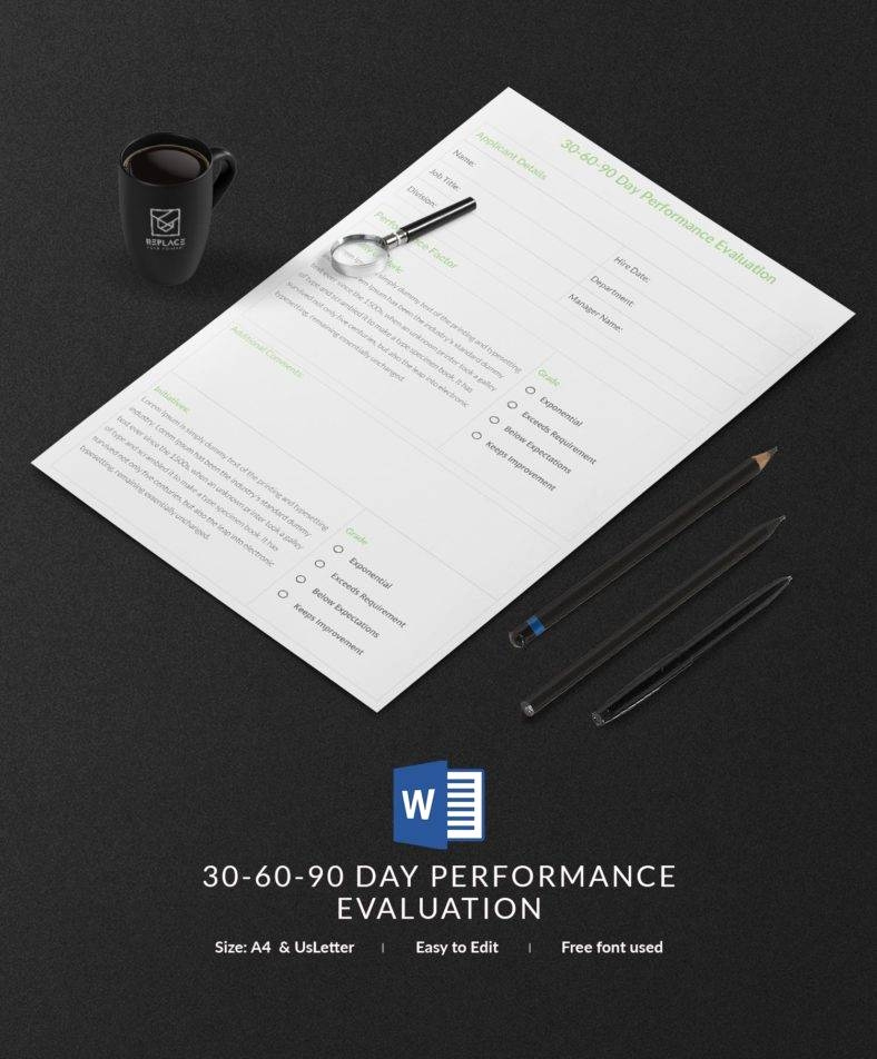 90 Day Review Template Beautiful 12 Free 30 60 90 Day Plan Templates In Word