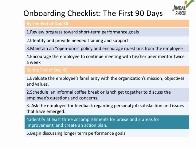 90 Day Review Template New Boarding as A Way Of Talent Management