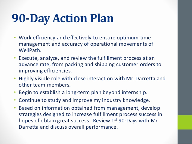 90 Day Review Template Unique Well Path Operations Intern 30 60 90 Plan