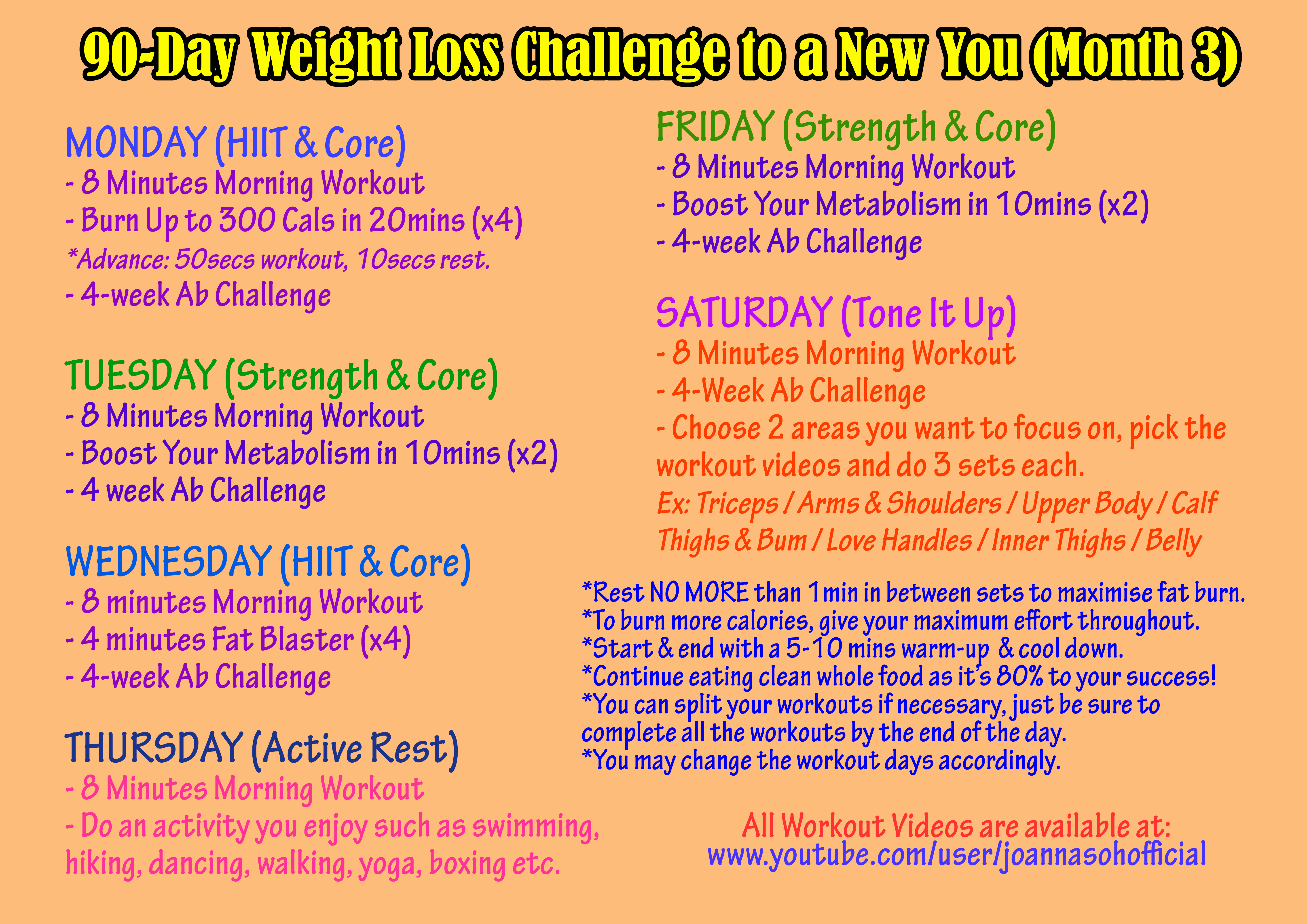 90 Day Workout Plan Luxury 3 Day Workout to Lose Weight