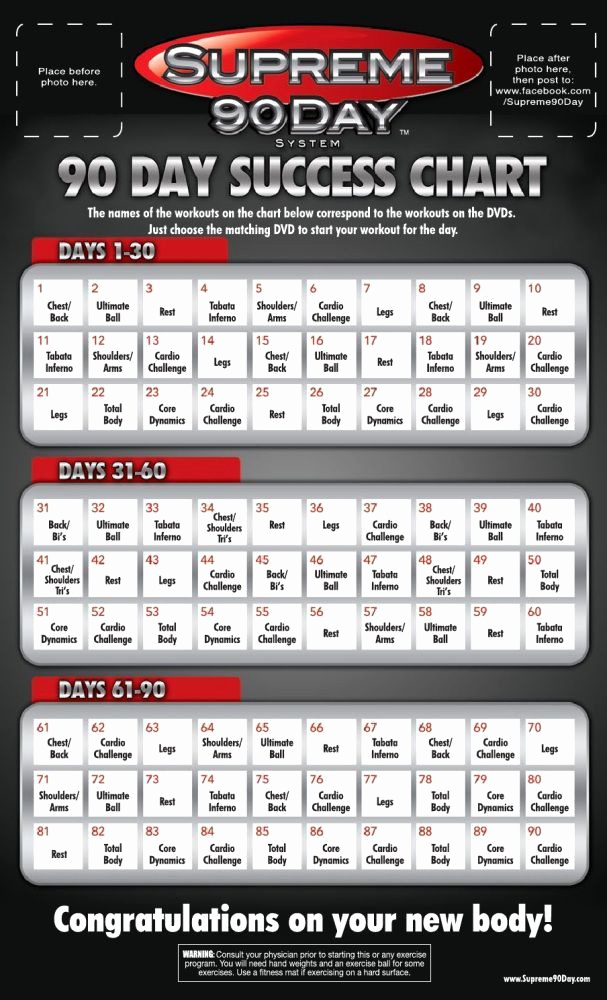 90 Day Workout Plan Unique Supreme 90 Day Workout Schedule with Time Fit