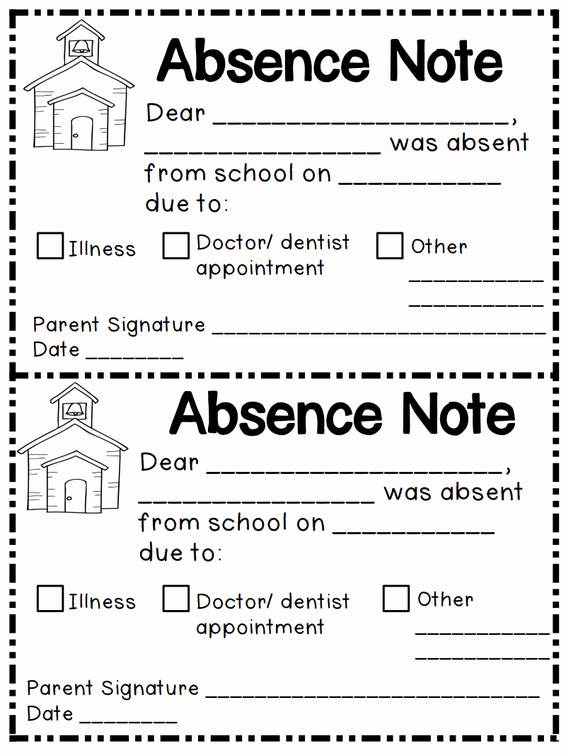 Absent Note for School Awesome Absent Pdf Google Drive School Ideas