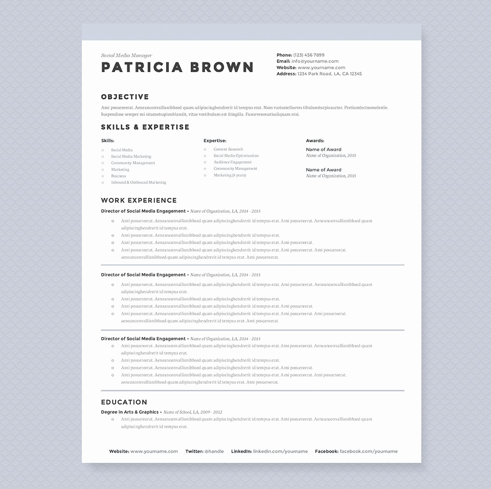 Academic Cv Template Word Lovely Clean Resume Template Pkg Resume Templates Creative