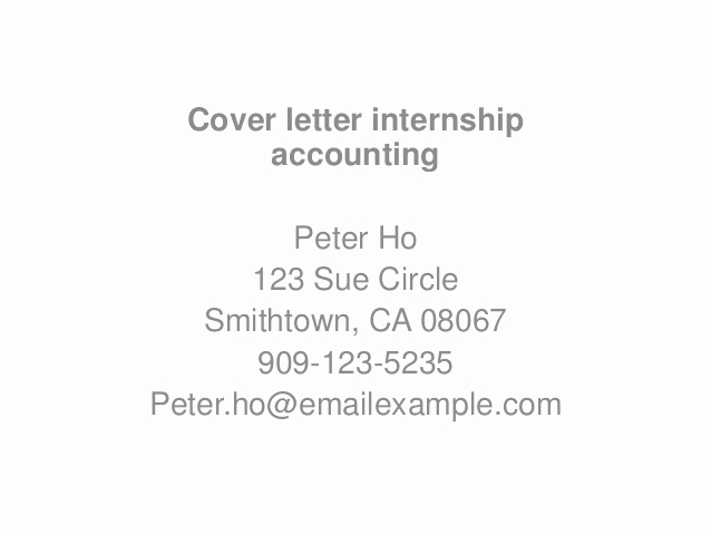 Accounting Internship Cover Letter Lovely Application Letter Sample Internship Cover Letter Sample