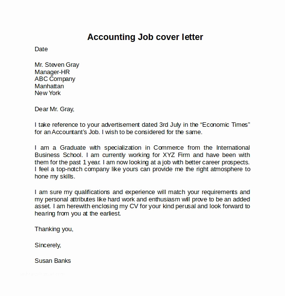 Accounting Internship Cover Letter Luxury 13 Sample Cover Letter for Internship