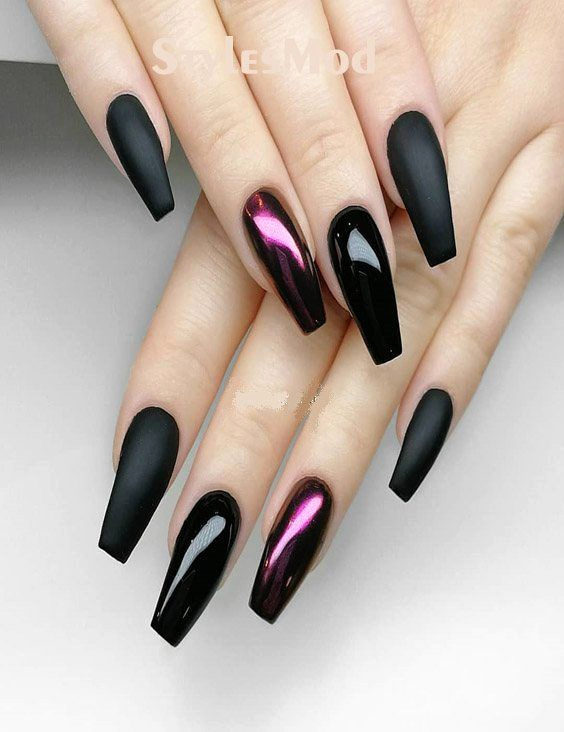 Acrylic Nail Designs 2019 New Premium Black with Xtreme Matte Nail Designs for 2018 2019