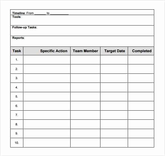 Action Plan Templates Excel Inspirational top 6 Free Action Plan Templates Word Templates Excel