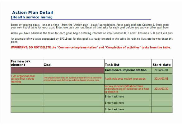 Action Plan Templates Excel Luxury 90 Action Plan Templates Word Excel Pdf