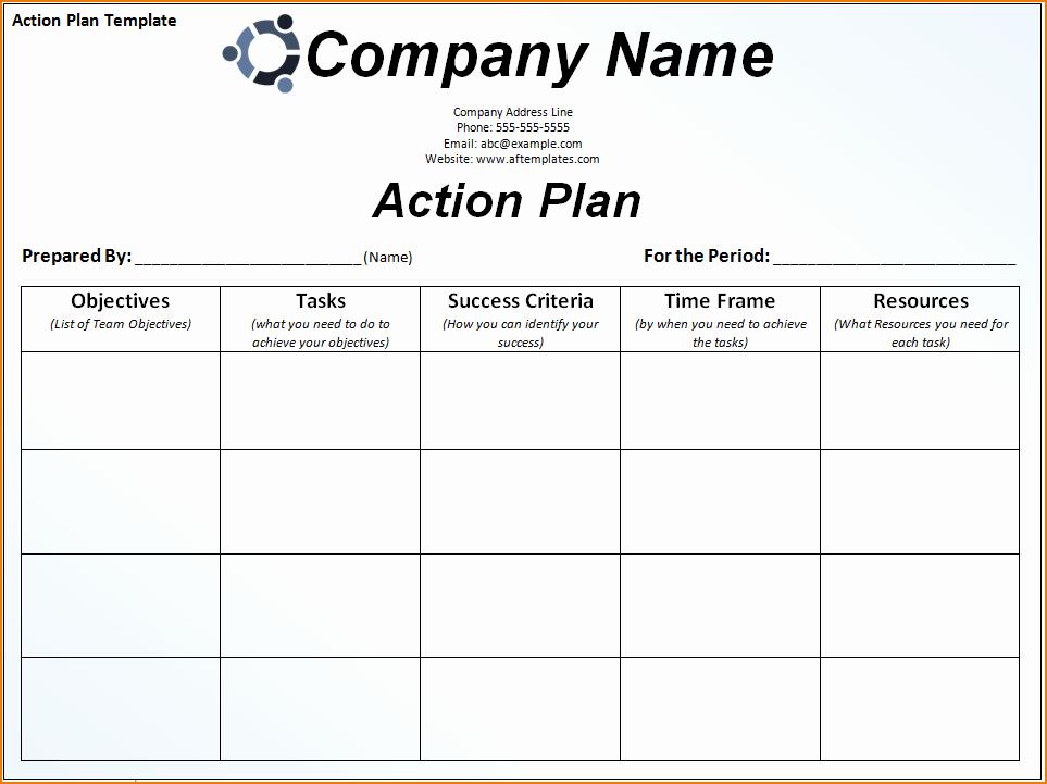 Action Plan Templates Excel Unique 6 Sample Action Plan Template