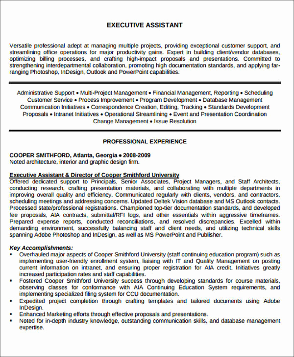 Administrative assistant Resume Objective Elegant Administrative assistant Resume Objective 6 Examples In