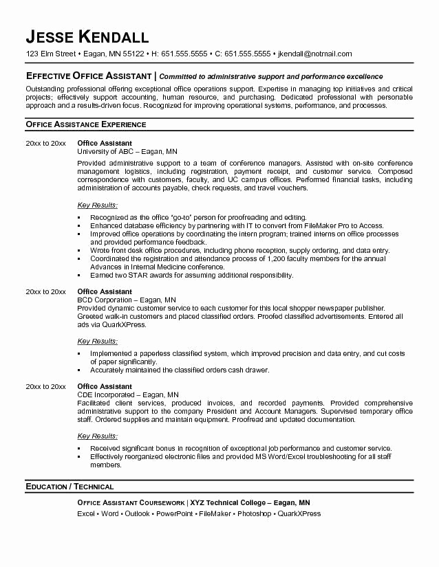 Administrative assistant Resume Objective Fresh 10 Best Best Executive assistant Resume Templates