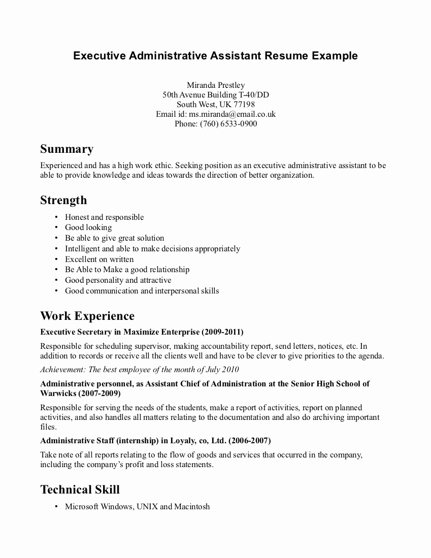 Administrative assistant Resume Objective Inspirational Catchy Resume Objectives for Administrative Coordinator
