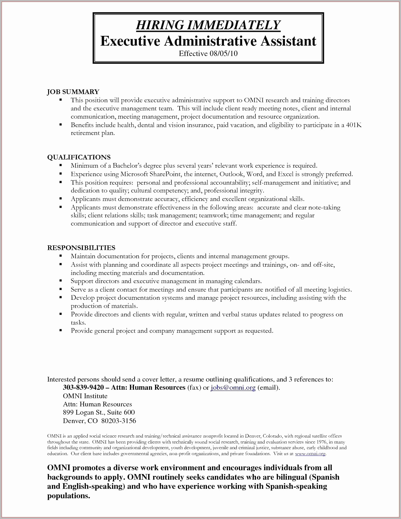 Administrative assistant Resume Objective Lovely Administrative assistant Objectives Examples Resume