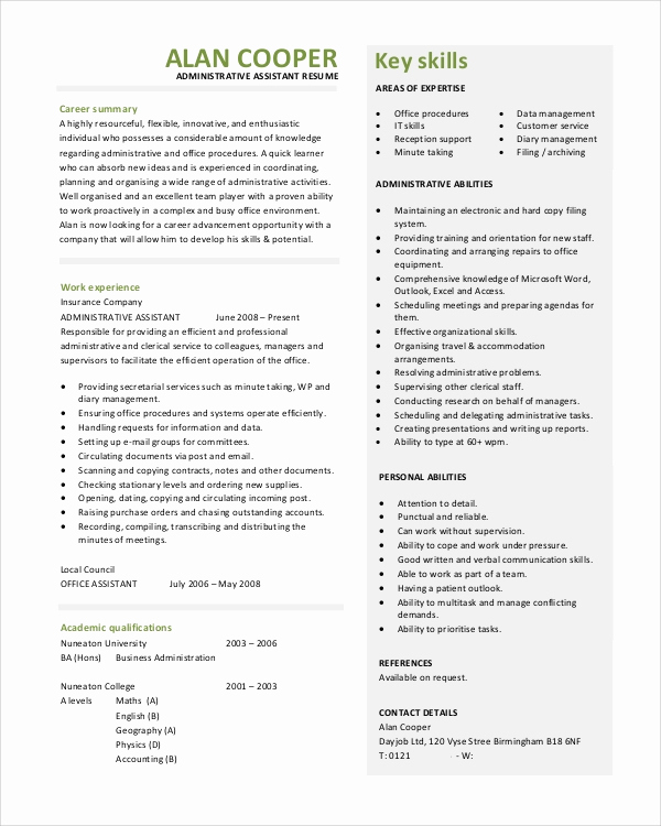 Administrative assistant Resume Objective Luxury Sample Objective Statement Resume 8 Examples In Pdf