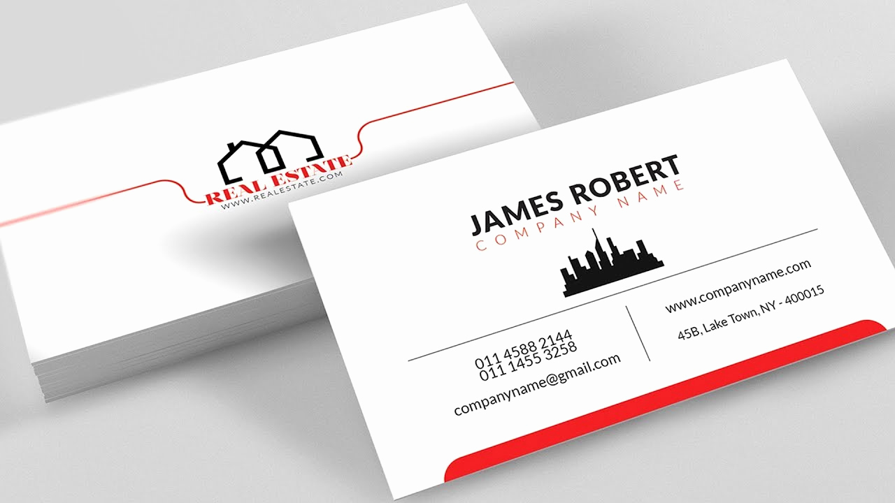 Adobe Illustrator Business Card Template Unique Clean Illustrator Business Card Design with Free Template