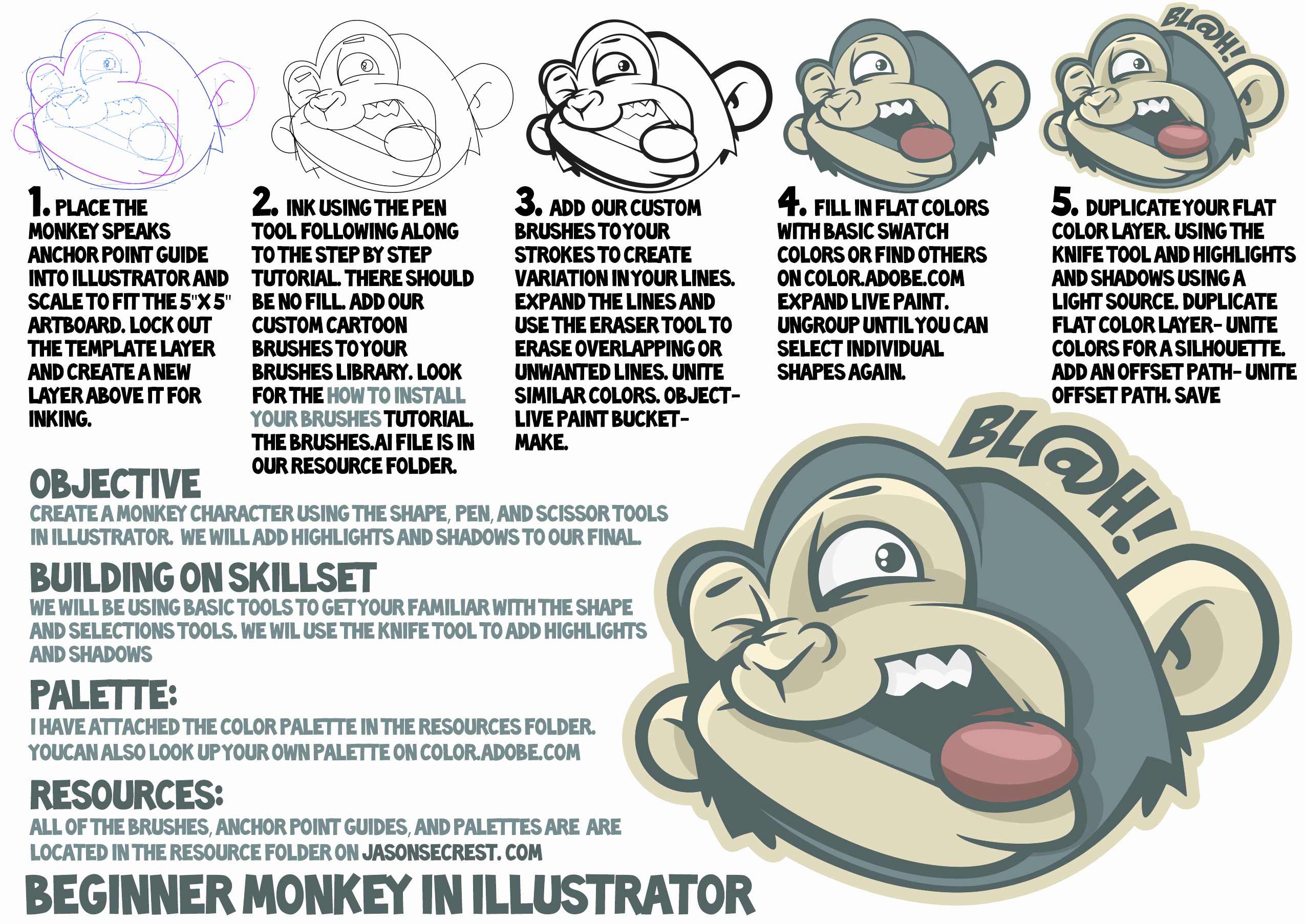 Adobe Illustrator Tutorials for Beginners Fresh Adobe Illustrator Cc Tutorial Using Pen tool Jason Secrest