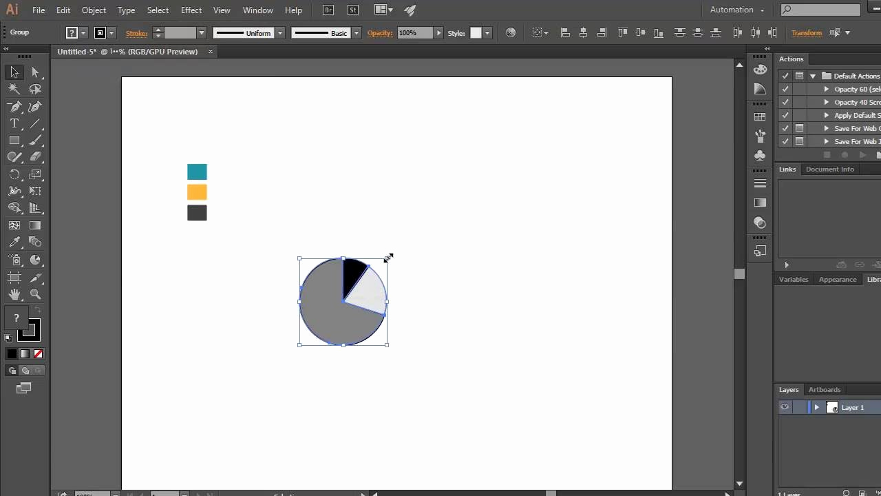 Adobe Illustrator Tutorials for Beginners New Adobe Illustrator Tutorial for Beginners Resizing Pie