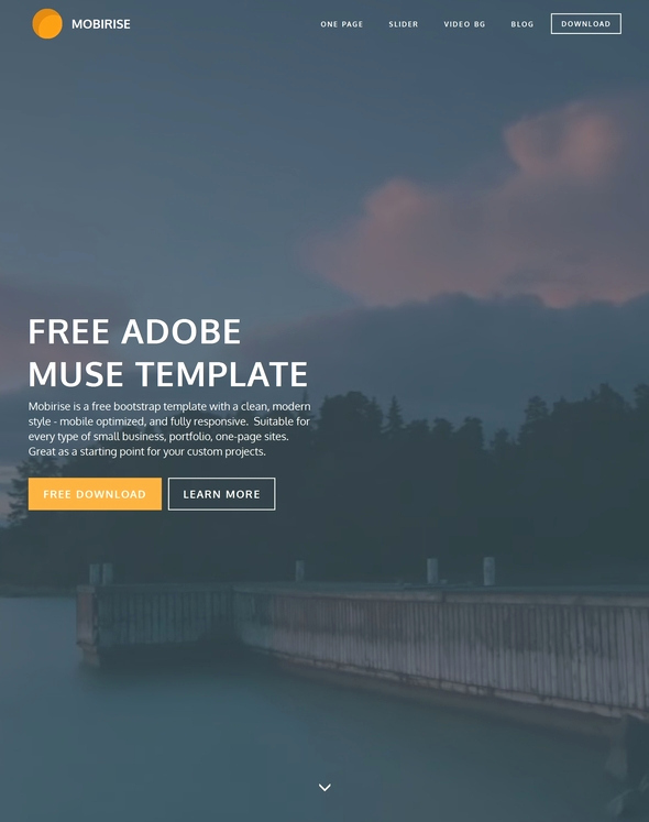Adobe Muse Templates Free Awesome 45 Best Adobe Muse Templates Free & Premium Download