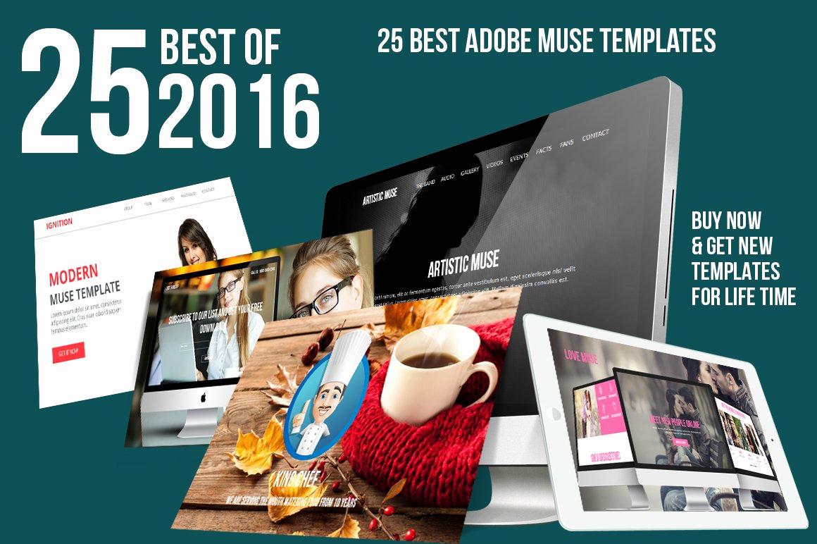 Adobe Muse Templates Free Beautiful 2016 Best Adobe Muse Bundle Website Templates Creative