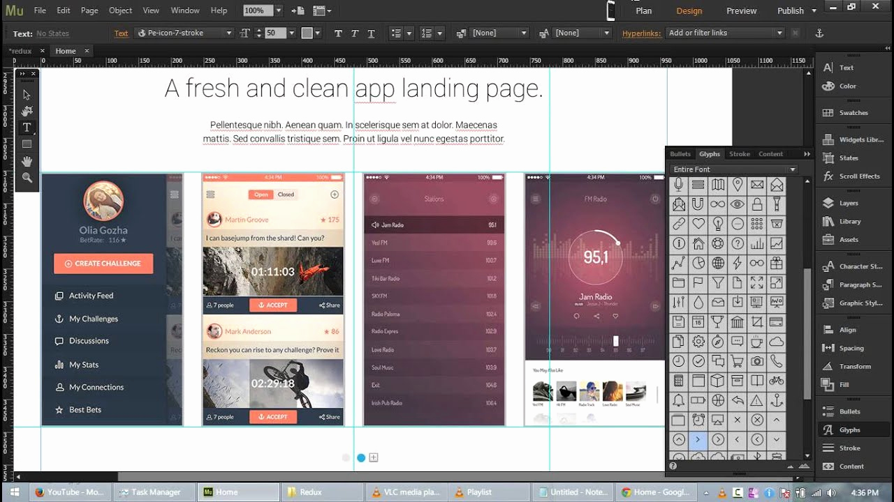 Adobe Muse Templates Free Elegant Redux Free App Landing Page Template for Adobe Muse Cc
