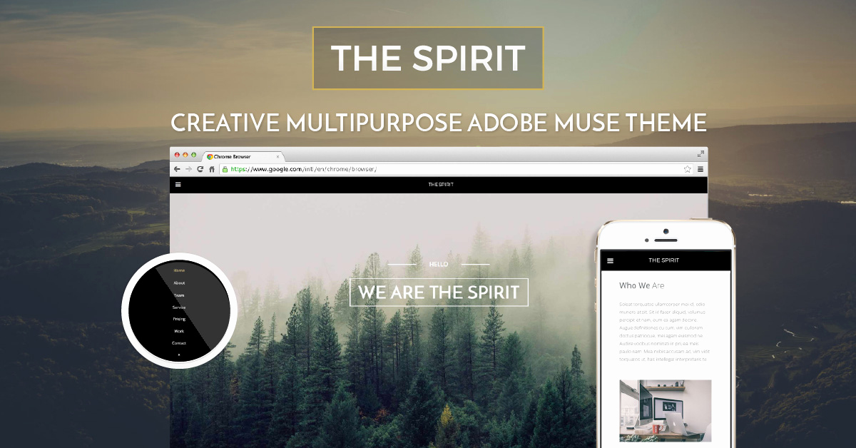 Adobe Muse Templates Free Elegant the Spirit