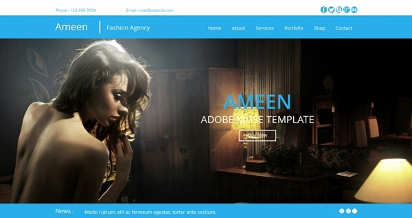 Adobe Muse Templates Free Fresh 10 Professional Muse Templates February 2014 Edition