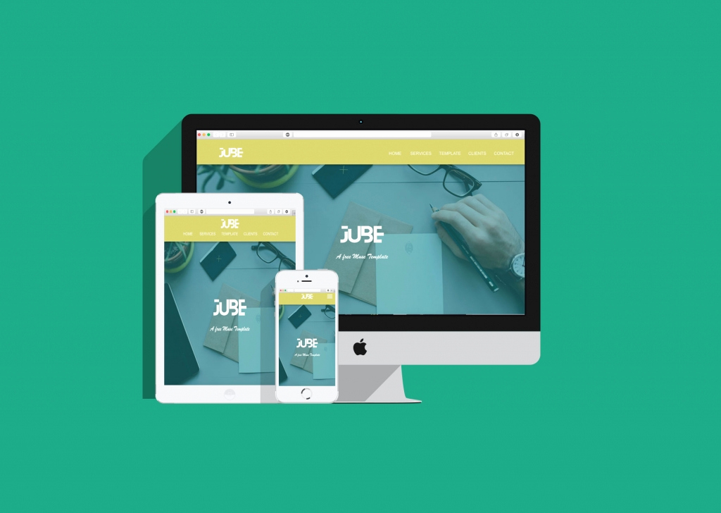 jube adobe muse responsive free template