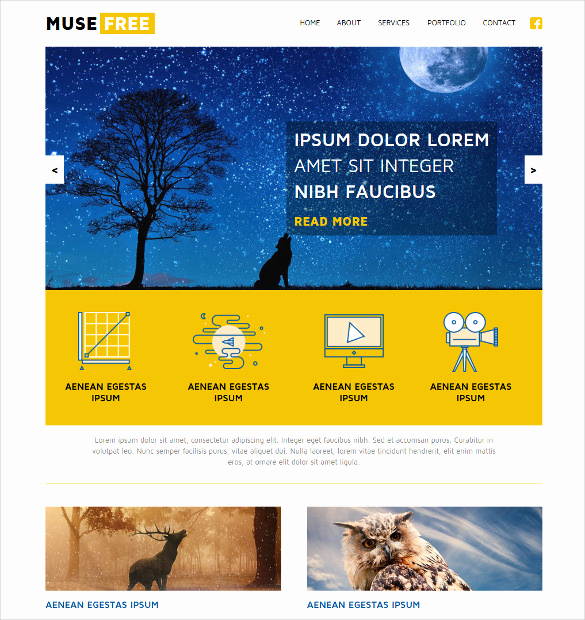 Adobe Muse Templates Free Lovely 21 Free Muse themes & Templates
