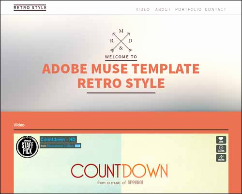 Adobe Muse Templates Free Unique Free and Premium Responsive Adobe Muse Templates
