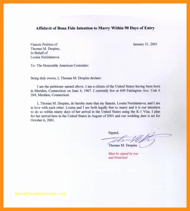 Affidavit Of Support Letter Awesome 11 12 Affidavit Of Support Example Letters