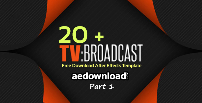 After Effects Free Templates Beautiful 20 Broadcast Package after Effects Templates Part 1