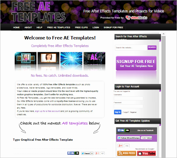 After Effects Free Templates Elegant 9 Free Websites to Download after Effects