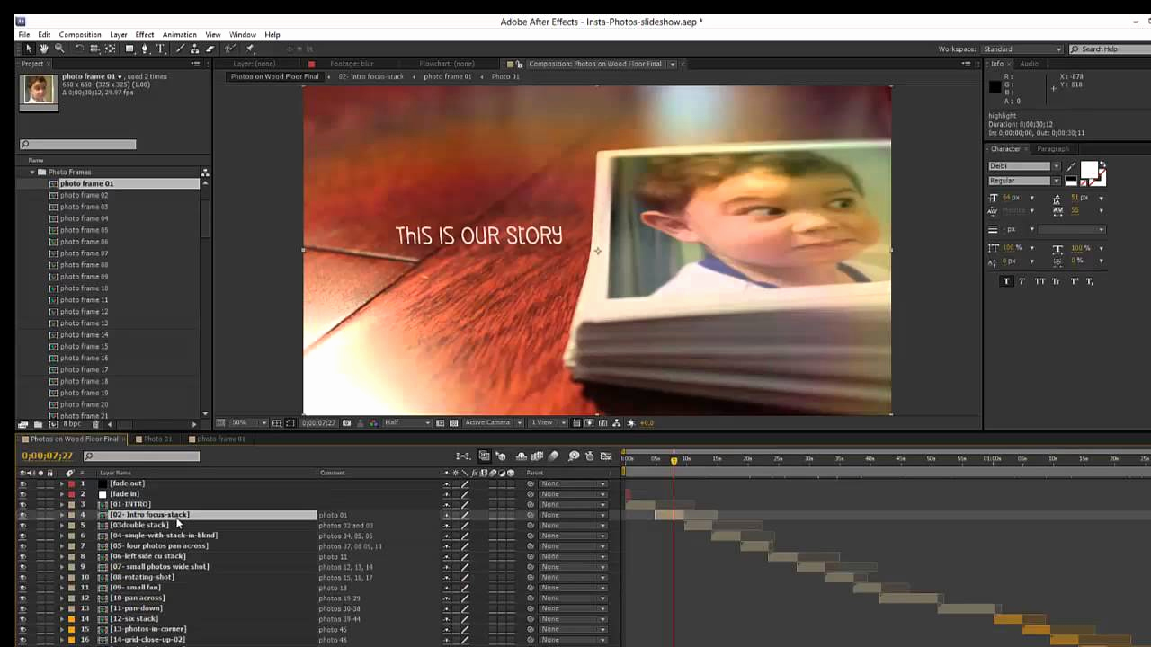 After Effects Slideshow Template Awesome Insta S Slideshow after Effects Template Overview