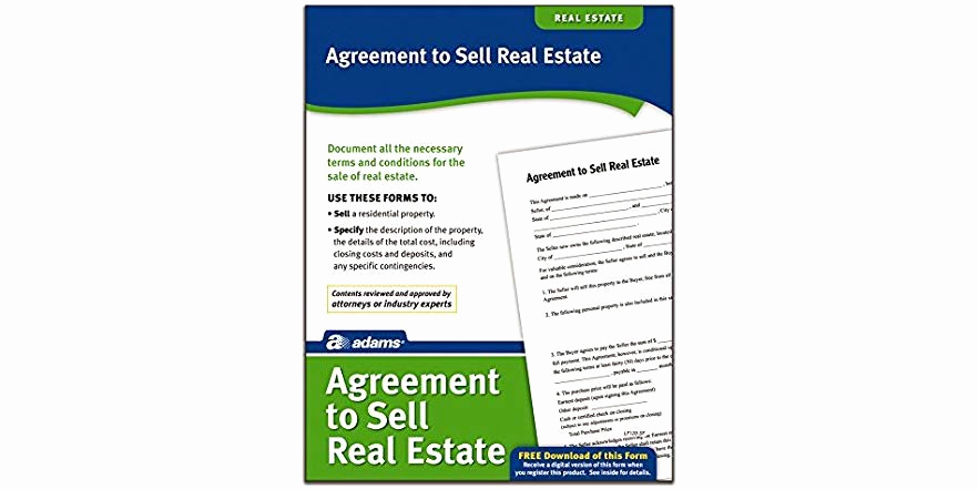 Agreement to Sell Real Estate Unique Adams Agreement to Sell Real Estate form