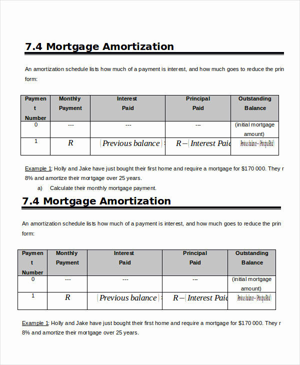 Amortization Schedule Excel Template Awesome Amortization Schedule Template 5 Free Word Excel