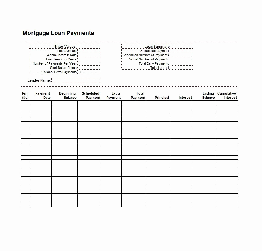 Amortization Schedule Excel Template Beautiful 28 Tables to Calculate Loan Amortization Schedule Excel