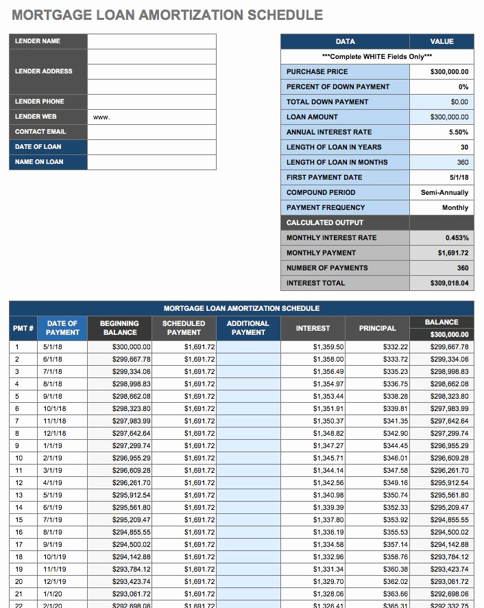 Amortization Schedule Excel Template Fresh 12 Free Payment Templates