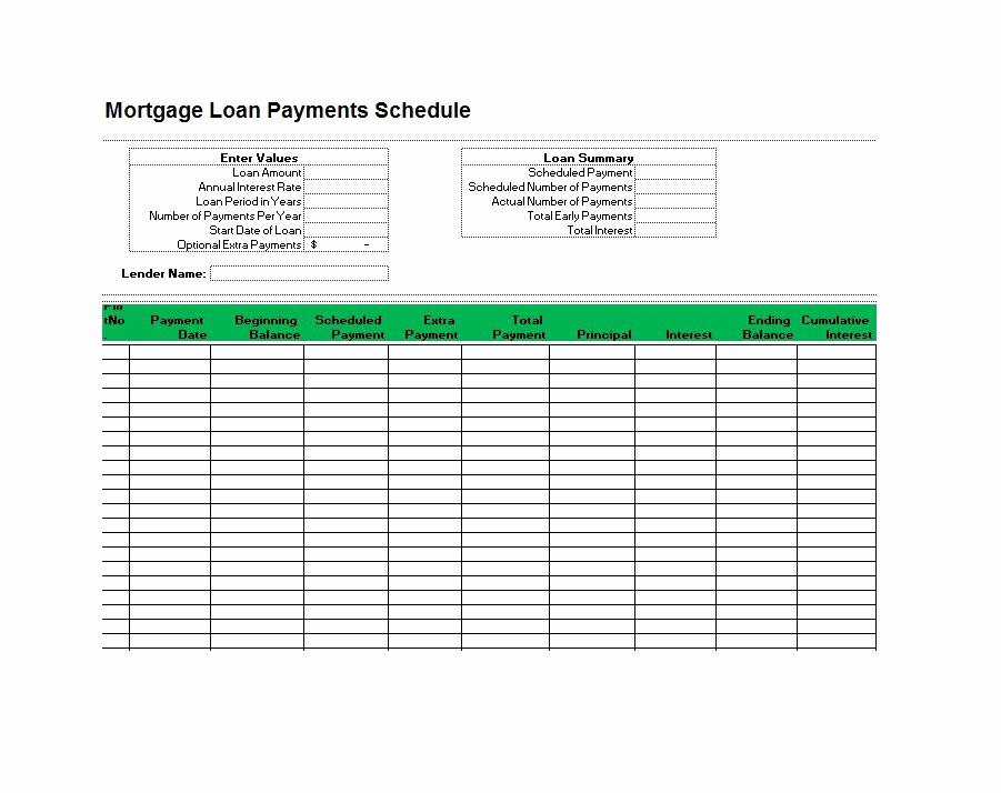 Amortization Schedule Excel Template Inspirational 28 Tables to Calculate Loan Amortization Schedule Excel
