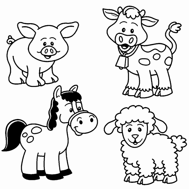 Animal Pictures to Color Best Of Baby Farm Animal Coloring Pages