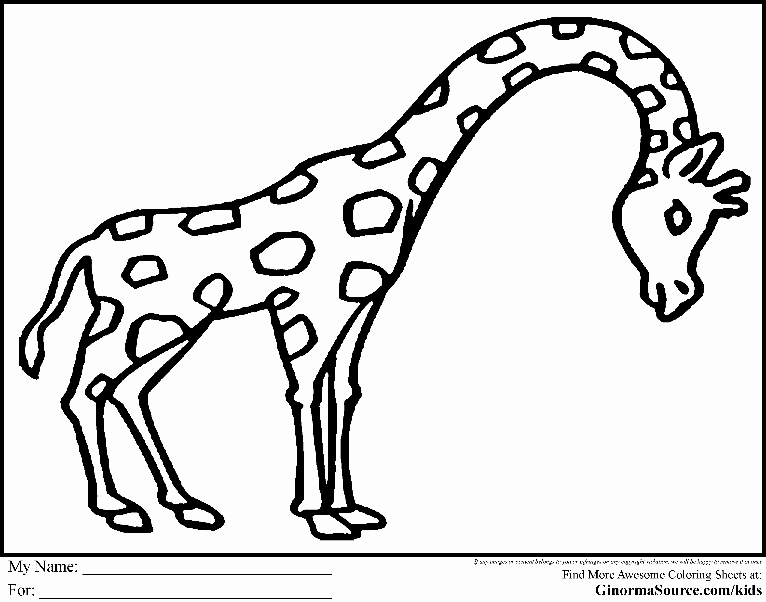 Animal Pictures to Color Unique Easy Animal Coloring Pages for Kids Coloring Home
