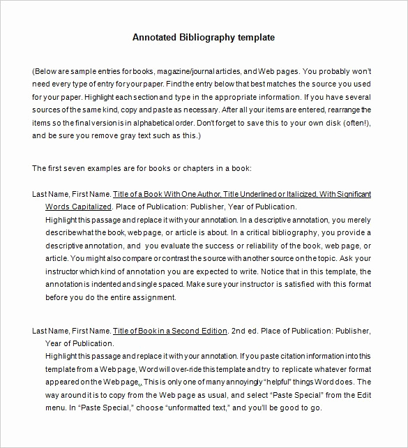 Annotated Bibliography Template Apa Awesome 7 Annotated Bibliography Templates – Free Word & Pdf