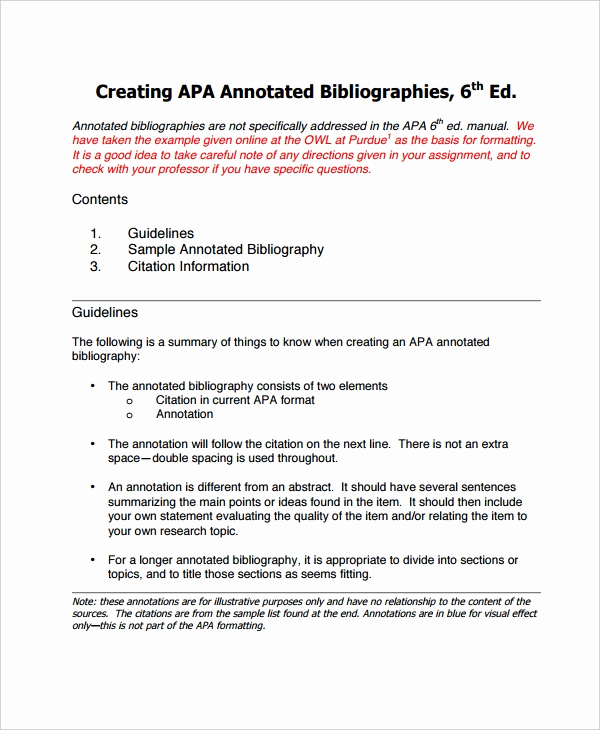 Annotated Bibliography Template Apa Beautiful 10 Annotated Bibliography Free Sample Example format