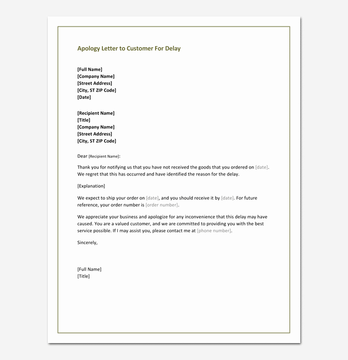 Apology Letter to Customers Beautiful Apology Letter to Customer 4 Useful Samples & formats